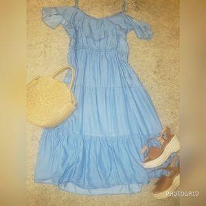 Old Navy Demin Cold Shoulder Dress